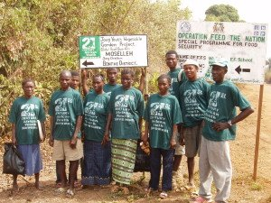 Bonthe District Youth Vegetable Team in Jong Chiefdom.