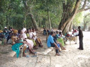 Moselle Beach Community Members Assessing Work progress at Moselle- Photo credits: Dennis Glover